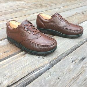 SAS TRIPAD Brown Leather Comfort Walking Shoes